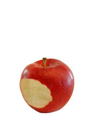 bitten apple isolated on white