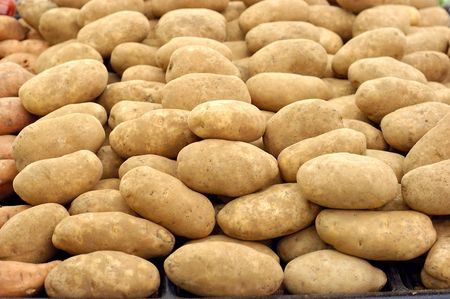 potatoes for sale at the market Stock Photo