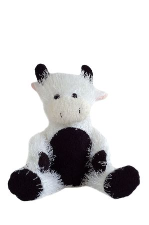 stuffed cow toy sitting Stock Photo - 5636341
