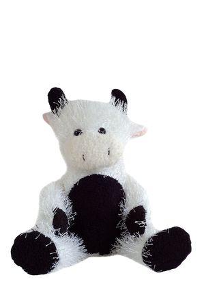 stuffed cow toy sitting Stock Photo - 5636341