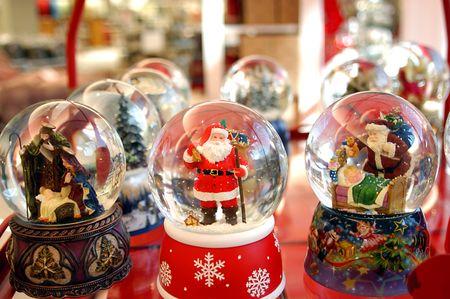 christmas snow globes photo