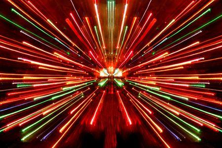 christmas lights burst photo