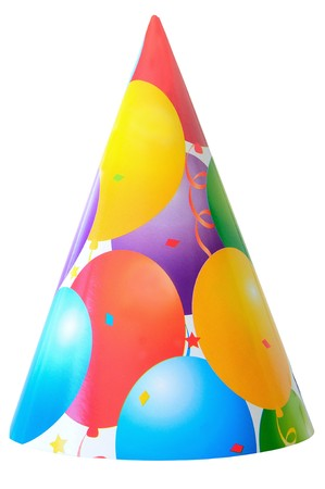 birthday party hat isolated on white