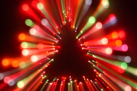 christmas tree light zoom Stock Photo