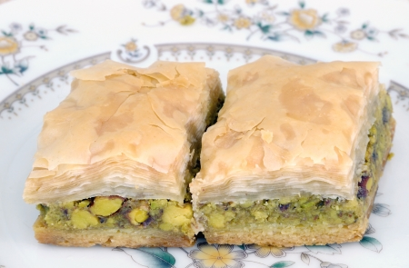 filo pastry: baklava Stock Photo