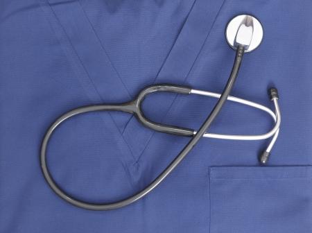 stethoscope and scrubs