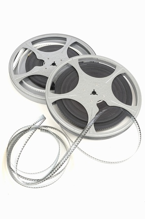 celluloid film: movie film reel Stock Photo