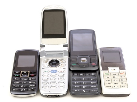 old cell phone Stock Photo