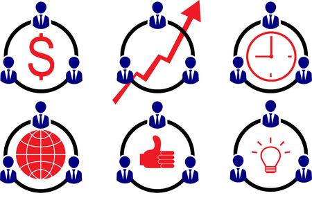 Business Businessman Workforce Teamwork Company Vector