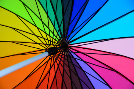 Rainbow Colorful umbrella photo