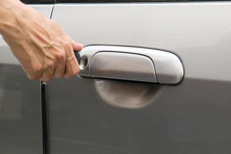open car door: open car door with key