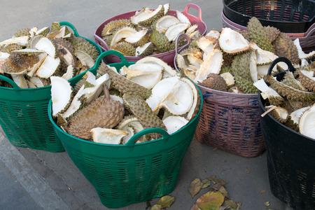 trashcan: shell durian in trashcan
