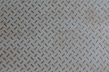 diamond plate: old metal diamond plate ,background closeup Stock Photo