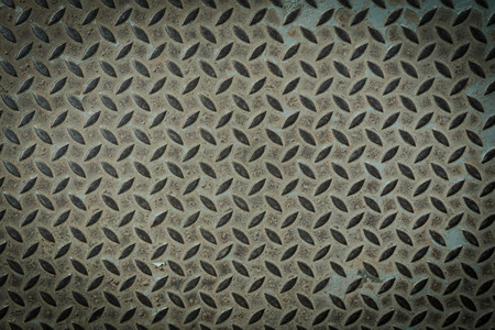 ironworks: old metal diamond plate ,background closeup Stock Photo