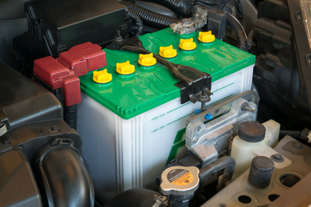 battery of a car Archivio Fotografico