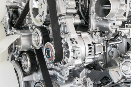 Automotor Nahaufnahme, Teil Des Automotors Mit Rädern Und Antrieb ...