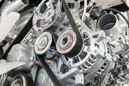 車エンジン クローズ アップ車のエンジン部 写真素材