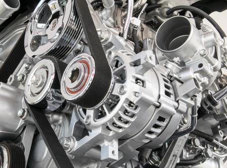 Primo piano del motore dell'automobile Parte del motore dell'automobile Archivio Fotografico - 41155279