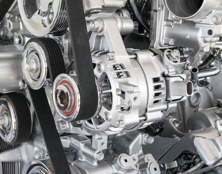 Automotor close-up Een deel van auto-motor