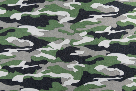 army uniform: Camouflage pattern on fabric