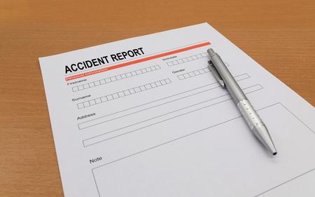 Unfallbericht Lizenzfreie Bilder