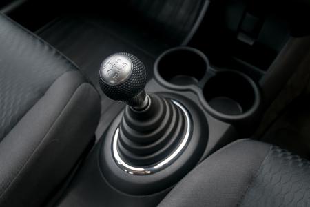 shift: Car interior. manual transmission gear shift.