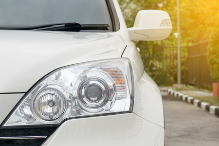 headlights: Headlights of a Car