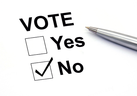 voting: Voting no check-box Stock Photo