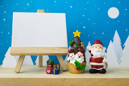 Photo frame and Children toys for christmas decoration. Stock Photo