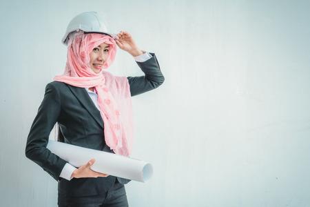 Portrait of Arab architects Standard-Bild