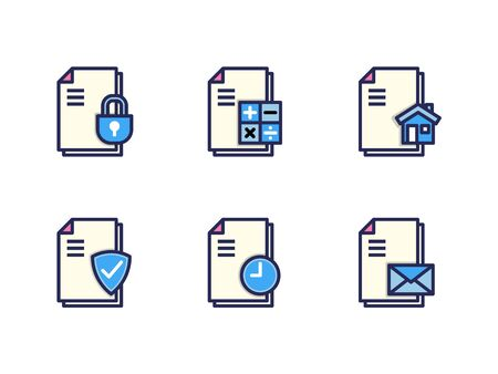 Simple Set of Document vector icon. Illustration isolated for graphic and web design. Editable Stroke. 64x64 Pixel Perfect