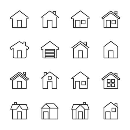 Simple Set of HOME vector icon.