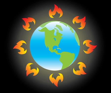 Earth on Global Warming