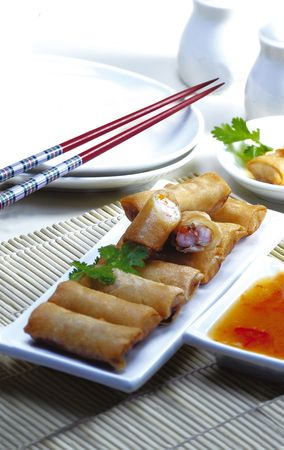 Lumpia Food - Indonesian food Stock Photo - 2853488