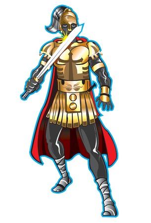 A Brave Warrior Illustration