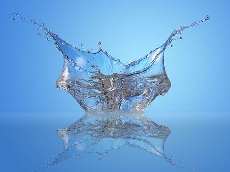 Nice splash reflected on water