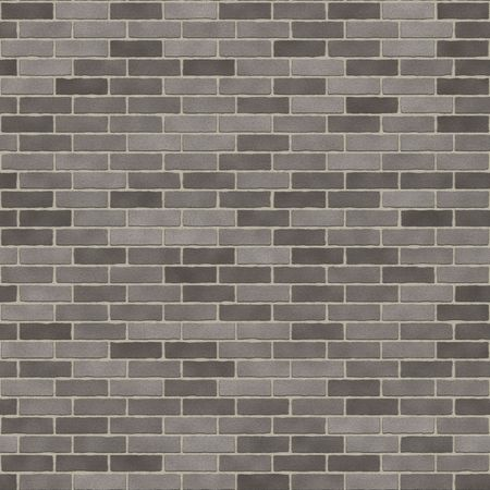 Seamless Dark Grey Brick Wall Stock Photo