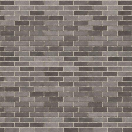 Seamless Dark Grey Brick Wall Stock Photo