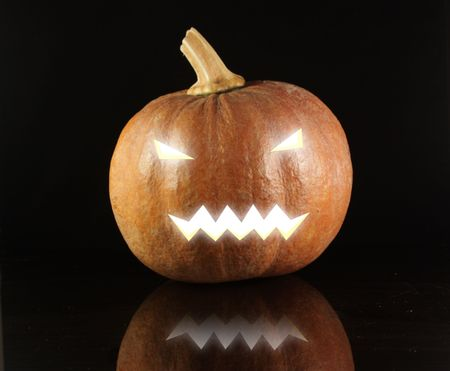 Glowing Halloween Pumpkin Stock Photo - 5778171