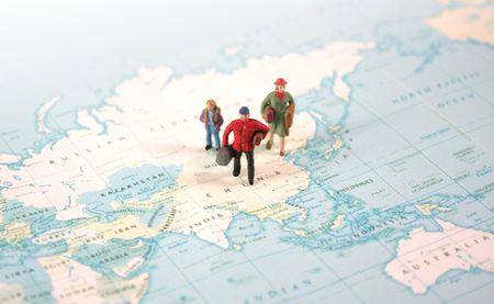 Travelling Around The World Stock Photo