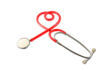 Stethoscope in Heart Shape Stock Photo