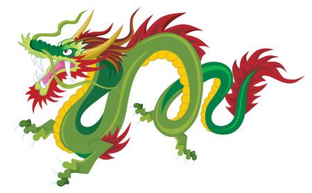 etnia: Chino tradicional dragón Vectores