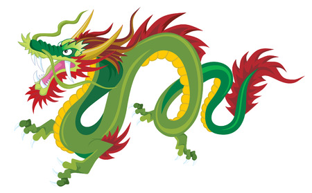 chinese dragon: Chinois traditionnel Dragon Illustration