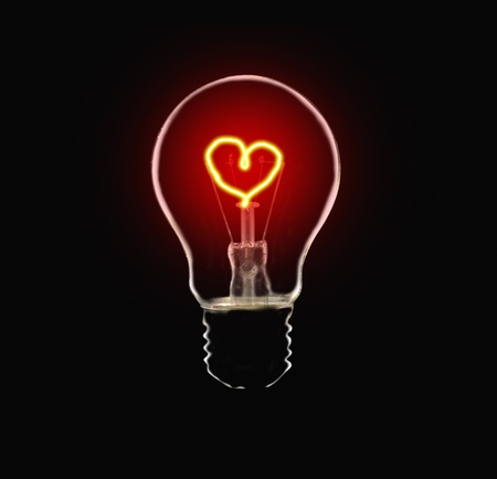 Love Bulb Stock Photo - 9502179
