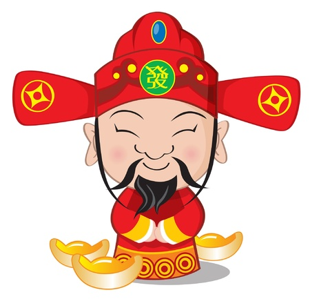 Choy San - Dios de la riqueza Ilustración de vector