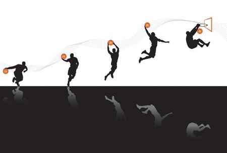 Basketball Sequences Stock Vector - 9886489