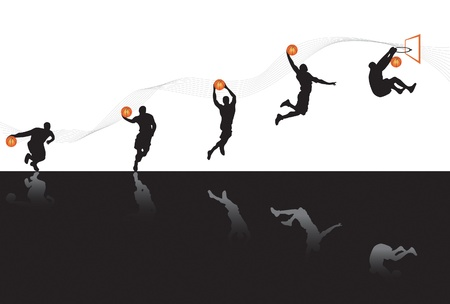 Basketball Sequences Stock Vector - 9886489