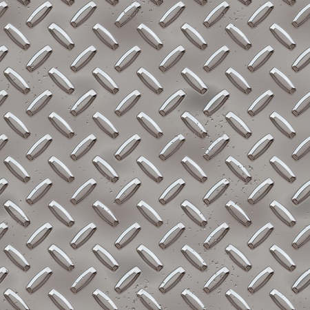Seamless Diamond plate Stock Photo - 10750194