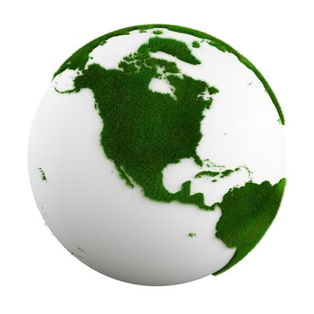 3d rendering of a grass earth - north america photo