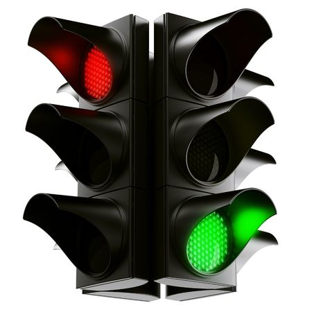 signals: 3d rendering traffic light Stock Photo